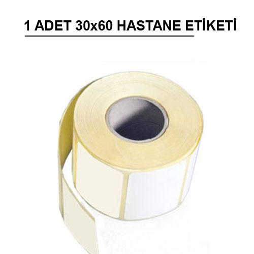 60 x 30 TERMAL HASTANE ETİKETİ 1000 ADET