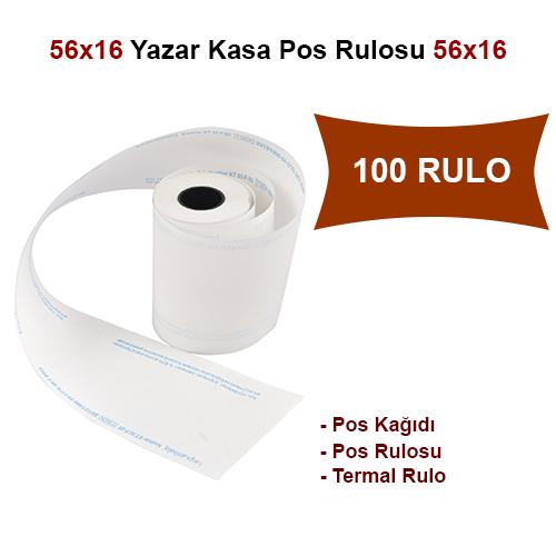 56x16 Pos Kağıdı,Pos Rulosu,Termal Rulo 100 Rulo