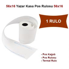 56x16 Pos Kağıdı,Pos Rulosu,Termal Rulo 1 Rulo