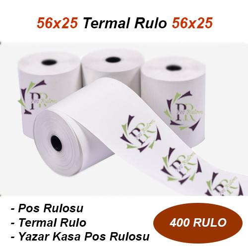 56 x 25 Termal Akbil Rulosu 400 Rulo