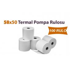 58 x 50 Termal Pompa Rulosu 100 Rulo