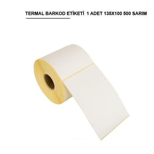135x100 TERMAL BARKOD ETİKETİ (500) SARIM 1 RULO