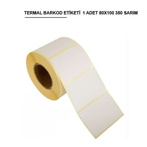 80 x 100 TERMAL BARKOD ETİKETİ (350) SARIM 1 RULO