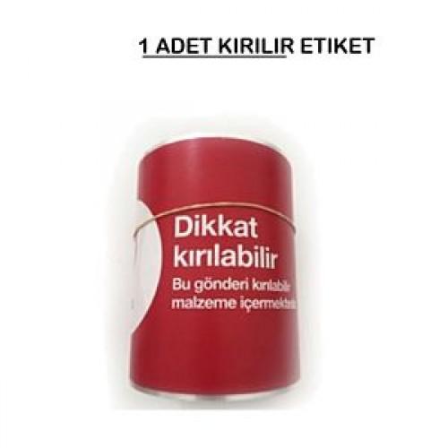 100x100 TERMAL KUŞE KIRILIR ETİKETİ (250) SARIM 1 RULO
