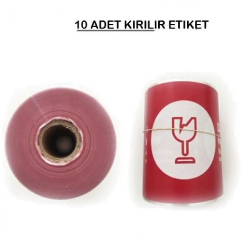 150 x 100 TERMAL KUŞE KIRILIR ETİKETİ (250) SARIM 10 RULO