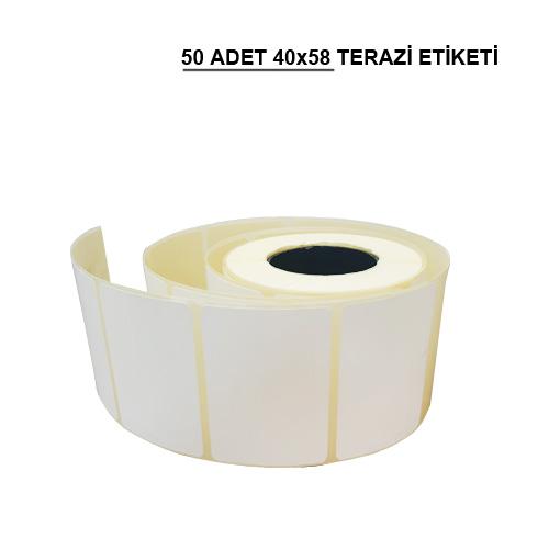 40 x 58 TERMAL TERAZİ ETİKETİ (500) SARIM 50 RULO
